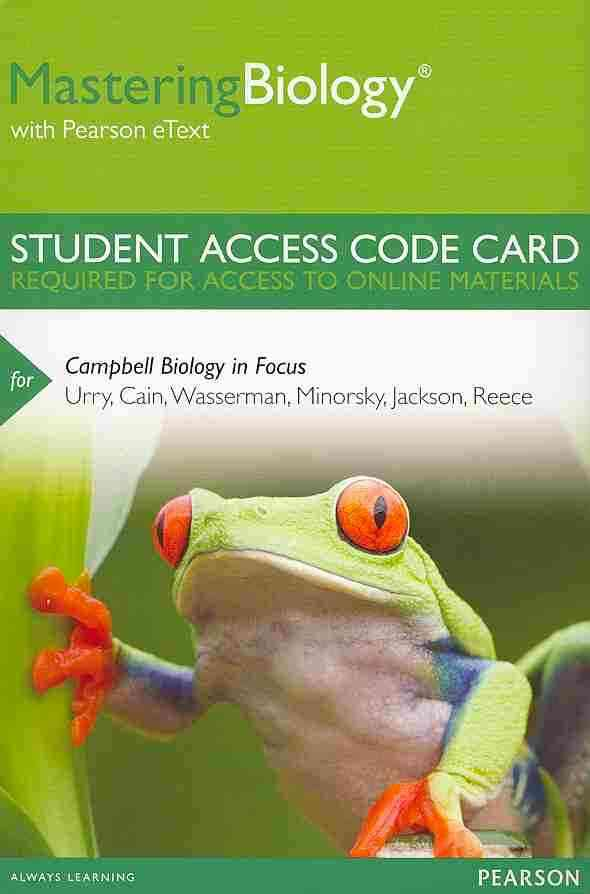 Benjamin-Cummings Publishing Company Masteringbiology with Pearson Etext -- Standalone Access Card -- For Campbell Biology in Focus by Urry, Lisa A./ Cain, Michael L at Sears.com